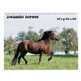 Icelandic horse Wall Calendar