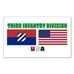 NEW! 3ID USA - Rectangle Sticker