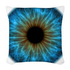 Eye, iris Woven Throw Pillow