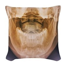 Normal neck, X-ray Woven Throw Pillow