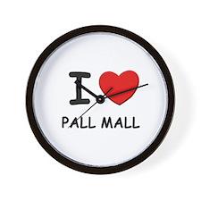 I love pall mall  Wall Clock