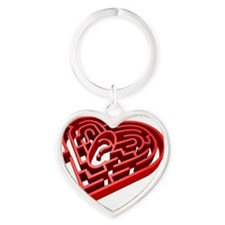 Heart Maze, computer artwork Heart Keychain