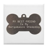 Bergamasco Friend Tile Coaster