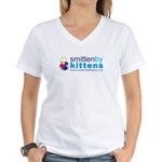 Smitten By Kittens Women's V-Neck T-Shirt