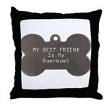 Boerboel Friend Throw Pillow