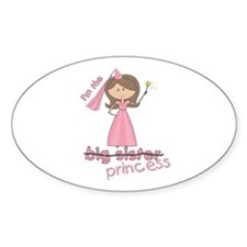 i'm the princess Oval Decal