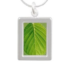 Leaf Silver Portrait Necklace