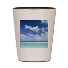 Blue sky and sea Shot Glass