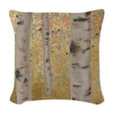 Ghosts Of Autumn Woven Throw Pillow