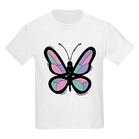 Patchwork Butterfly Kids Light T-Shirt