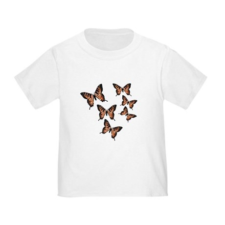Orange Butterflies Toddler T-Shirt