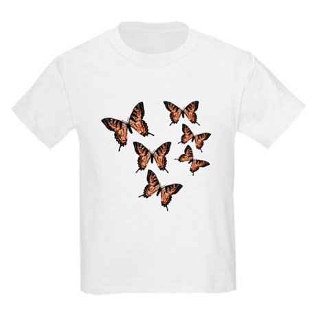 Orange Butterflies Kids Light T-Shirt