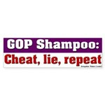 GOP Shampoo Bumper Sticker
