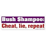 Bush Shampoo Bumper Sticker