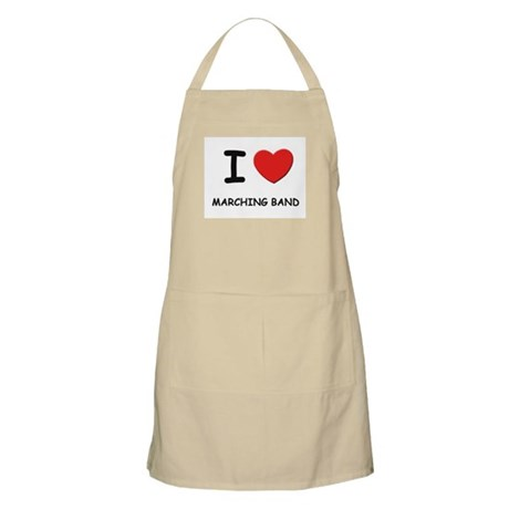 I love marching band BBQ Apron
