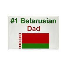 #1 Belarusian Dad Rectangle Magnet