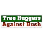 Tree Huggers Against Bush Bumper Sticker
