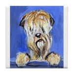 Curious Wheaten Tile Coaster