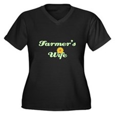 Farmer's Wife Women's Plus Size V-Neck Dark T-Shir