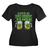 Love is Big Irish Jugs Women's Plus Size Scoop Nec