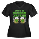 Love is Big Irish Jugs Women's Plus Size V-Neck Da