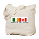 Proud to be Irish Canadian Tote Bag