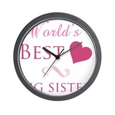 Worlds Best Big Sister Wall Clock