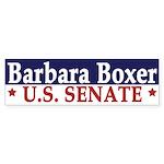 Barbara Boxer for Senate (bumper sticker)