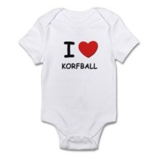 I love korfball  Infant Bodysuit