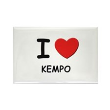 I love kempo Rectangle Magnet