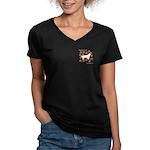 Sussex Happiness Women's V-Neck Dark T-Shirt