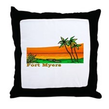Fort Myers, Florida Throw Pillow