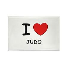 I love judo Rectangle Magnet
