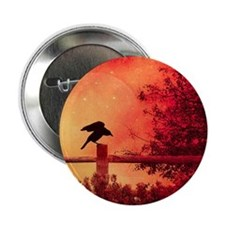 "Halloween moon 2.25"" Button"