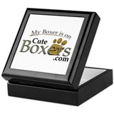 """My Boxer is on"" CuteBoxers.com Keepsake Box"