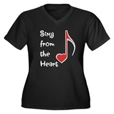 Sing from the Heart Women's Plus Size V-Neck Dark