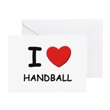I love handball  Greeting Cards (Pk of 10)