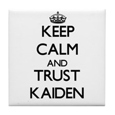 Keep Calm and TRUST Kaiden Tile Coaster