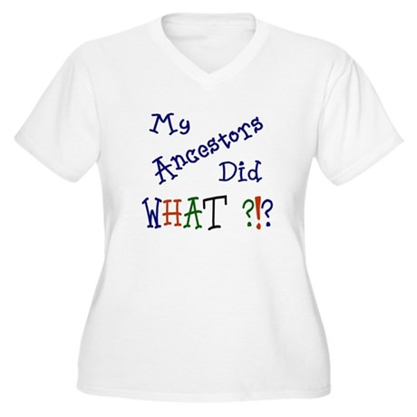 Ancestors Did What (blue) Women's Plus Size V-Neck