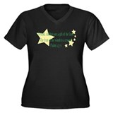 Psalm 127:3 Women's Plus Size V-Neck Dark T-Shirt