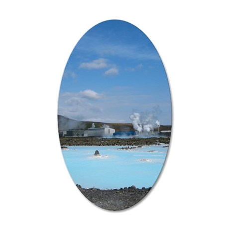 Geothermal energy 35x21 Oval Wall Decal