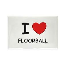 I love floorball Rectangle Magnet