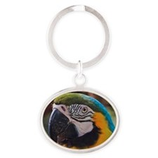 Portrait of parrot Oval Keychain