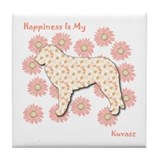 Kuvasz Happiness Tile Coaster