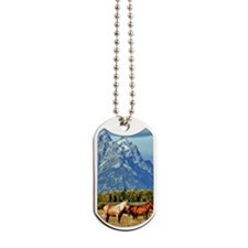 Horse pasture with view Dog Tags