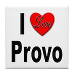 I Love Provo Tile Coaster