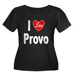 I Love Provo (Front) Women's Plus Size Scoop Neck