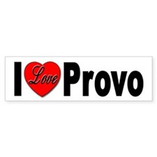 I Love Provo Bumper Bumper Sticker