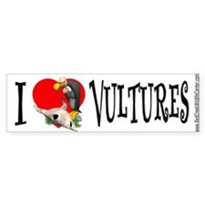 vulture cartoon Bumper Bumper Sticker