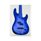 """BrightBlue"" Bass Guitar Rectangle Magnet"